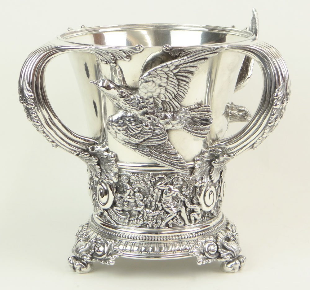 19th Century Tiffany & Company Sterling Silver Loving C