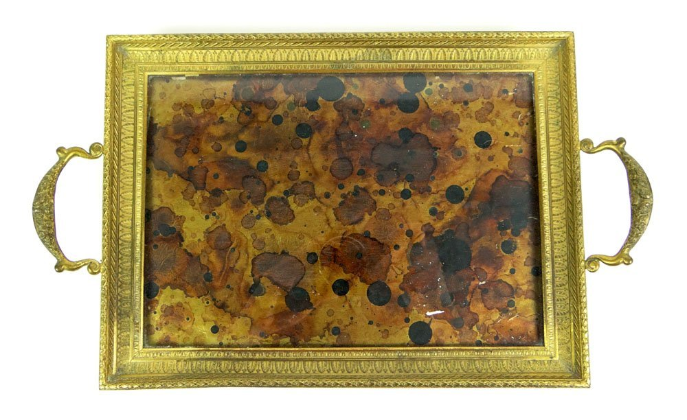 Early 20th Century Austrian Footed Bronze Vanity Tray w