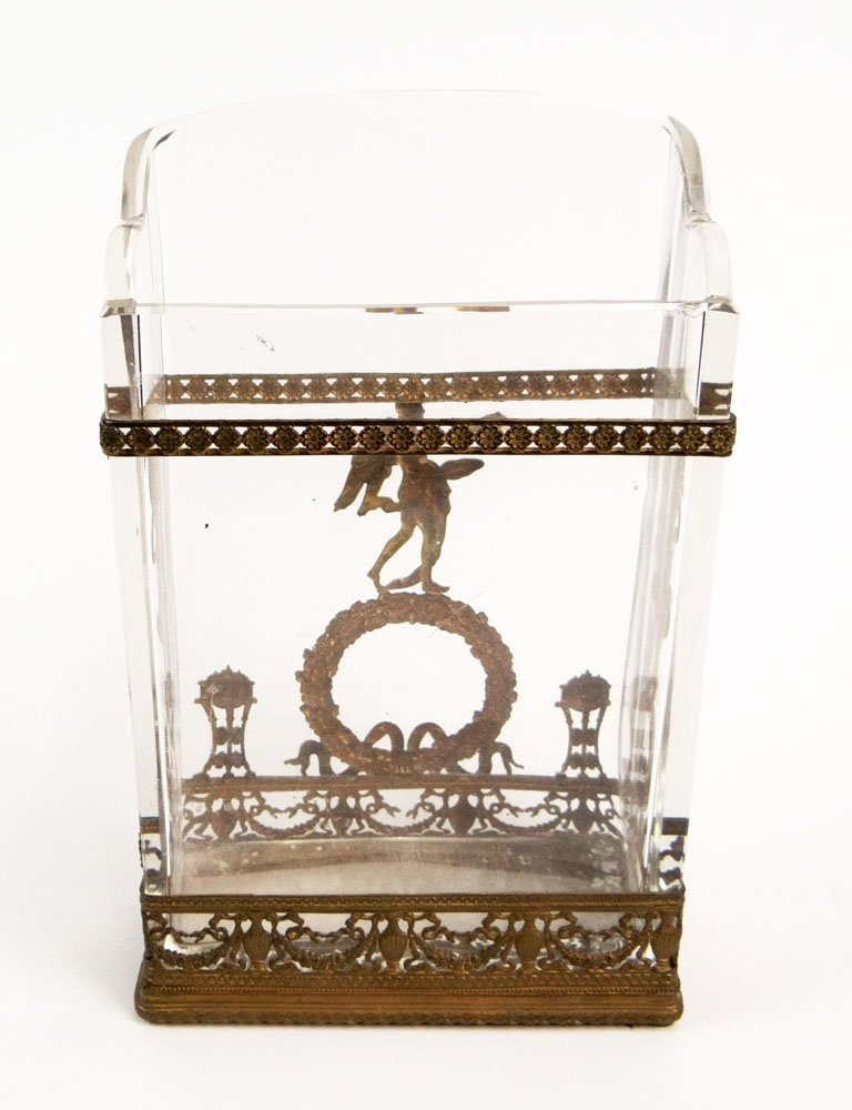 20th Century French Bronze Mounted and Crystal Mail Hol