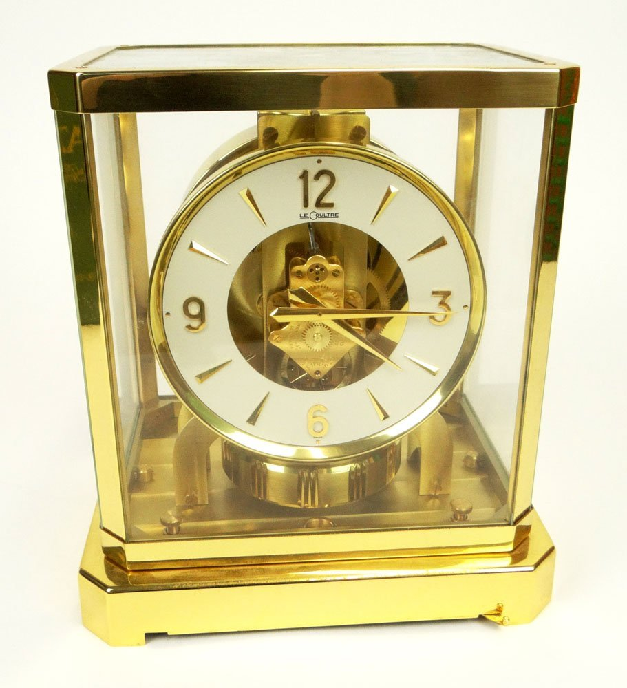 Jaeger LeCoultre Atmos Clock with Original Box and Pape