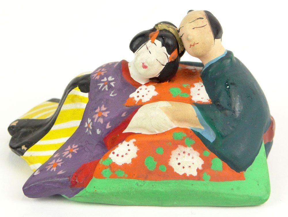 "Erotic 20th Century Japanese Hakata Doll Shunga ""Japane"