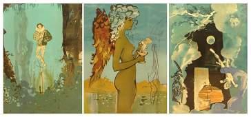 Salvador Dalí, Spanish (1904-1989) Circa 1978 Three (3)