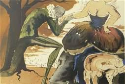 Salvador Dalí, Spanish (1904-1989) Circa 1971 Color Lit