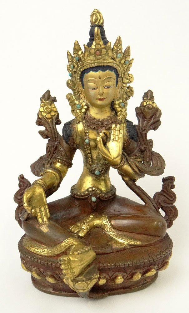 20th Century Sino-Tibetan Bronze Figure of Tara. Mark