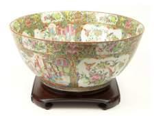 Large 19th Century Chinese Rose Medallion Porcelain