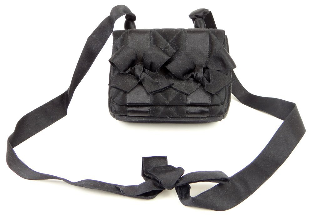 Almost New Vintage Black Bow Chanel Quilted Hand