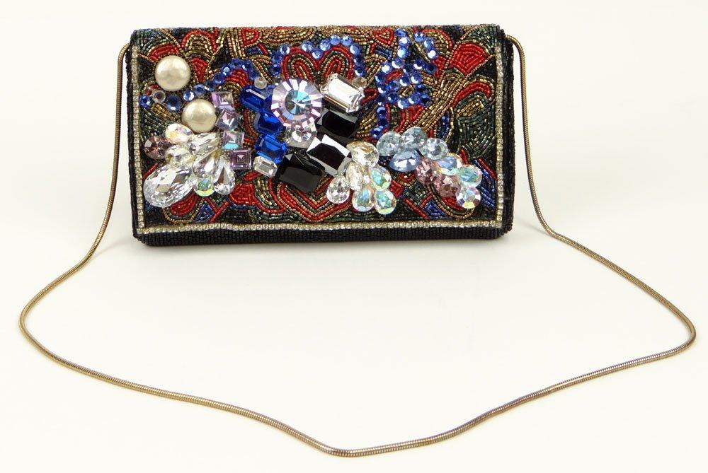 Wendy Gell Jewel Encrusted Beaded Bag. Unsigned.