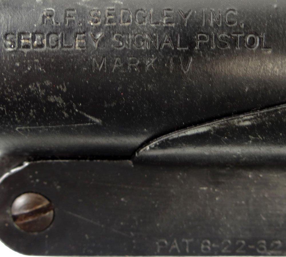 WW2 Era US Navy Sedgley Mark IV Flare Gun/Signal - 6