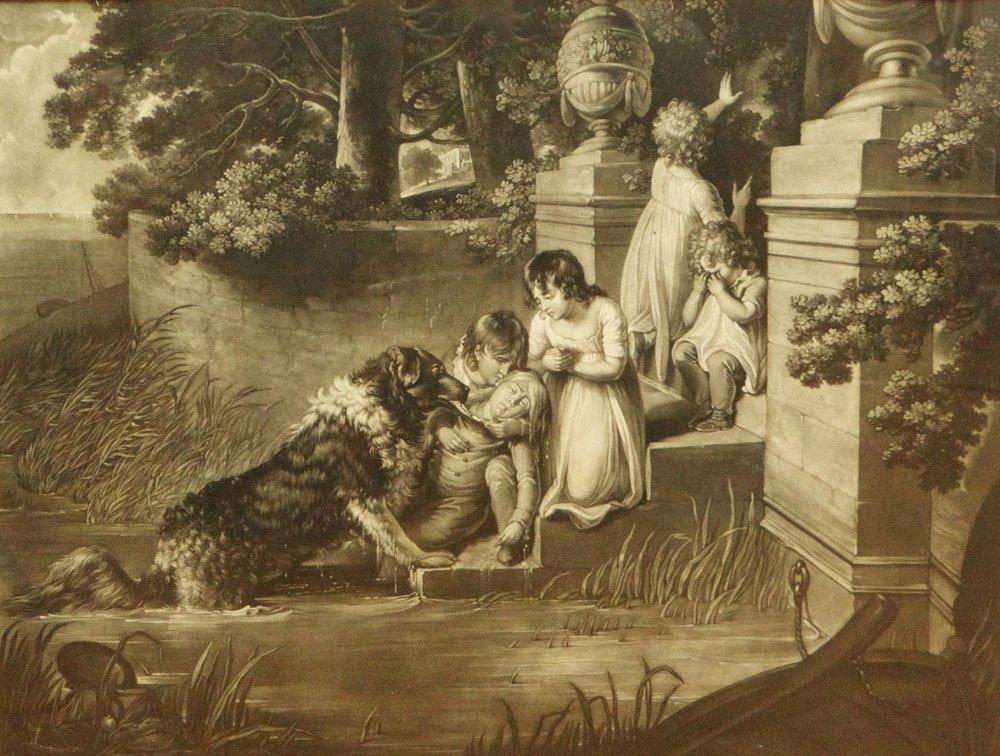 "Richard Earlom British (1743-1822) Mezzotint ""A"