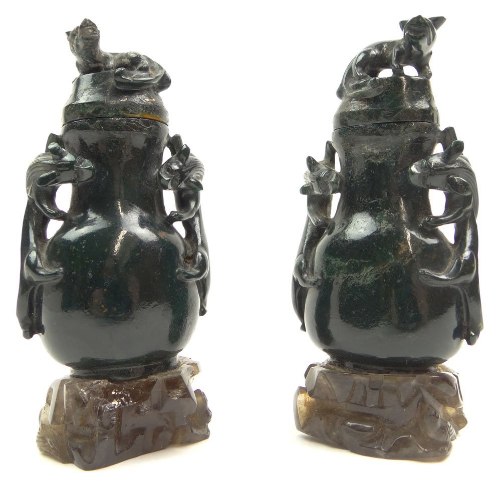 Rare Pair of Chinese Miniature 18th Century or Earlier