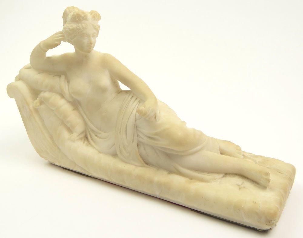 "20th Century Carved Alabaster Figure ""Aphrodite"