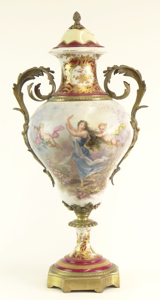 Large 19/20th Century French Limoges Sevres Gilt Bronze