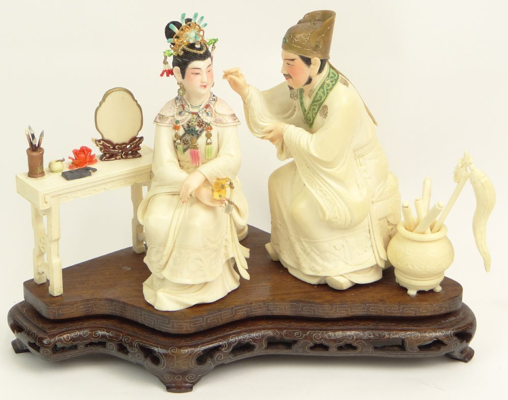 Mid 20th Century Chinese Well Carved Peking Ivory Group