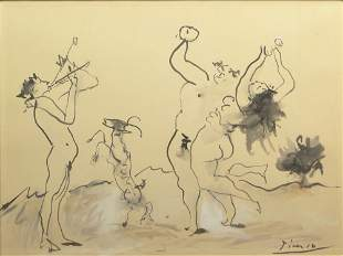 Pablo Picasso Spanish (1881-1973) Gouache & Ink Wash on