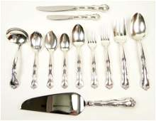 Eighty Four 84 Piece Vintage Gorham Sterling Silver