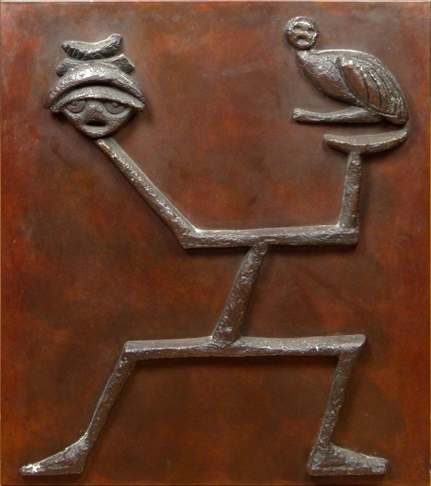 Max Ernst German (1891-1976) Important Relief Bronze