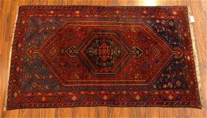 Semi Antique Turkish Tribal Rug. Decorated with