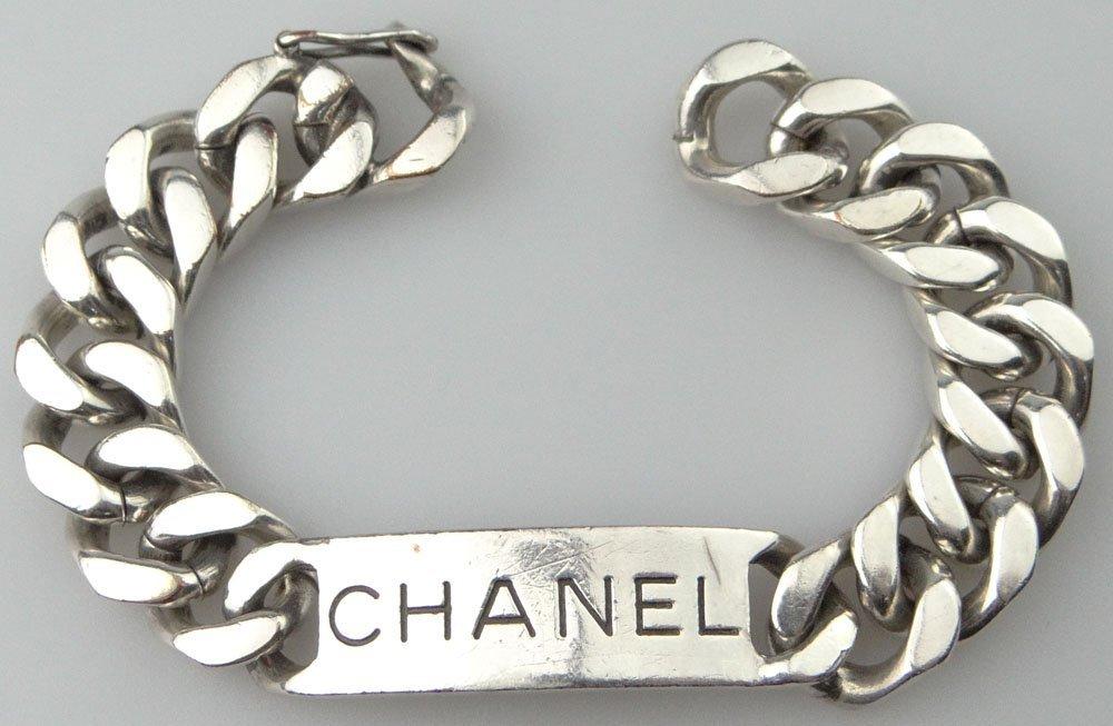 Chanel Paris France Faux Sterling Silver Costume