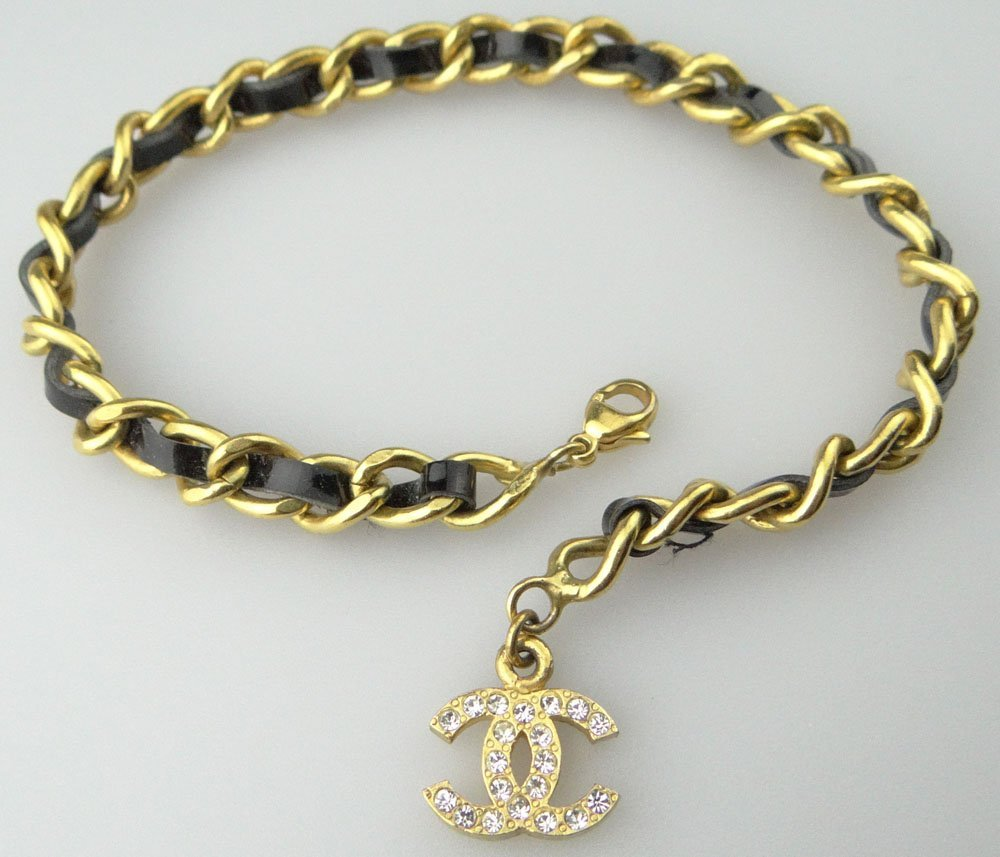 Chanel Paris France Goldtone Costume Jewelry Bracelet