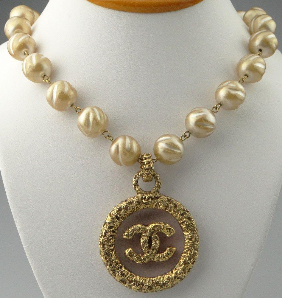 Chanel Paris France Goldtone Costume Jewelry Golden