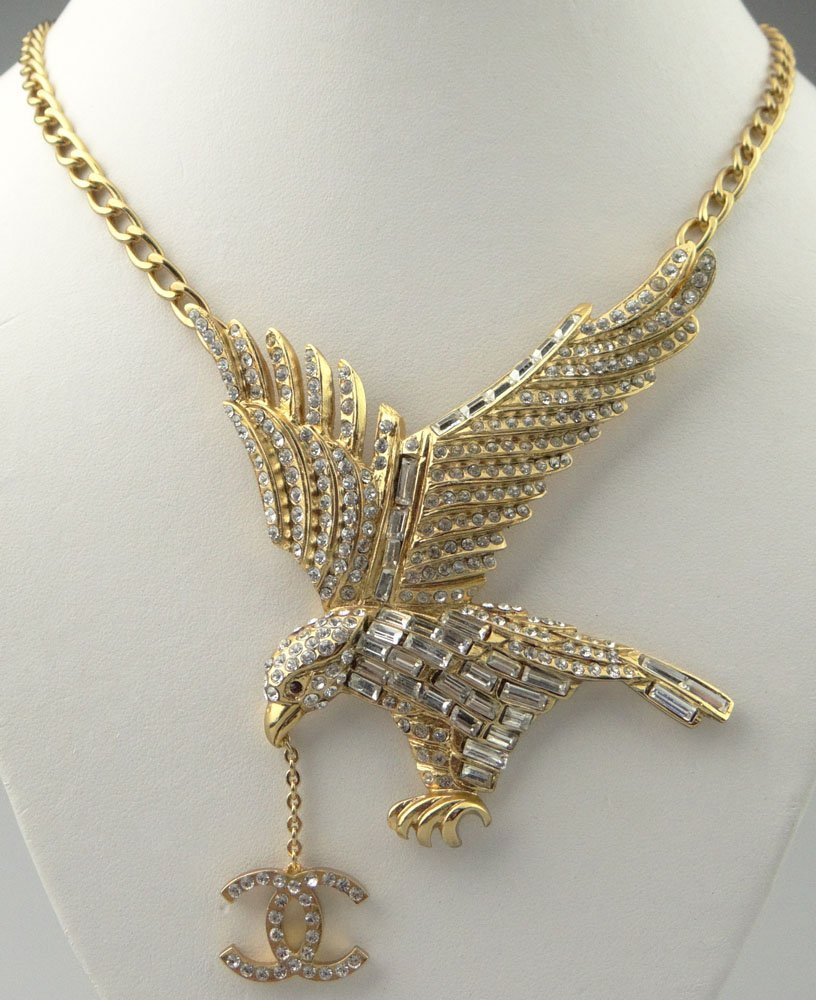 Chanel Paris France Goldtone Costume Jewelry Necklace