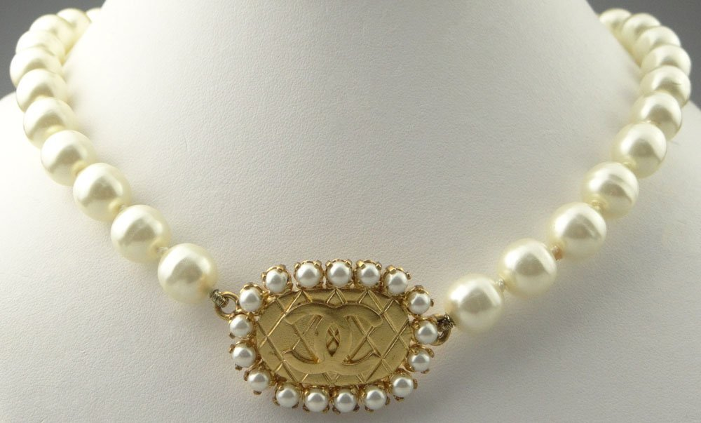 Chanel Paris France Goldtone Costume Jewelry and Faux
