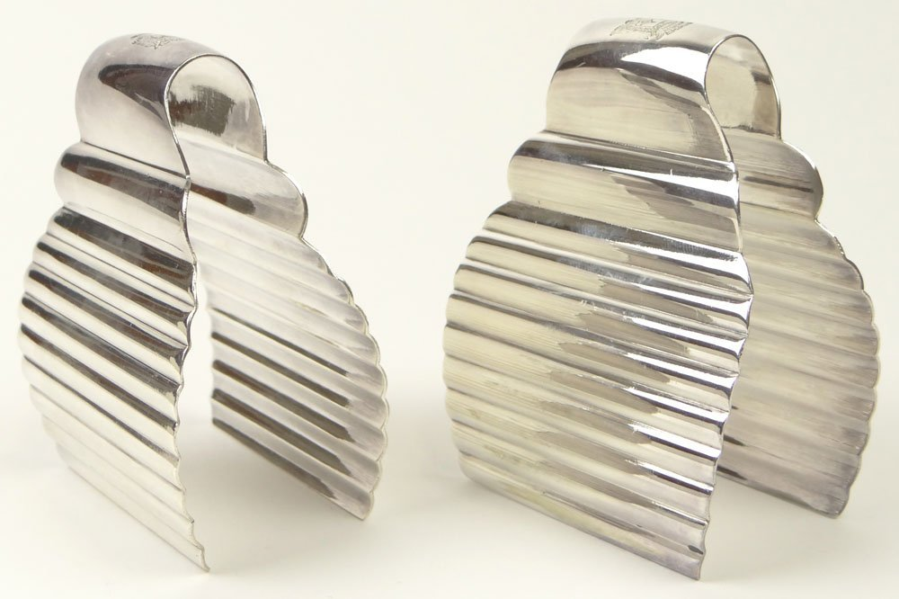 Two (2) Christofle France Art Deco Silver Plate