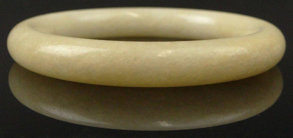 Chinese Whitish Jade Bangle. Unsigned. Good Condition