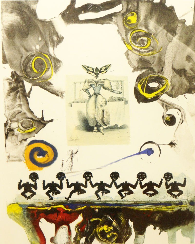 Salvador Dalí Spanish (1904-1989) Color Lithograph.