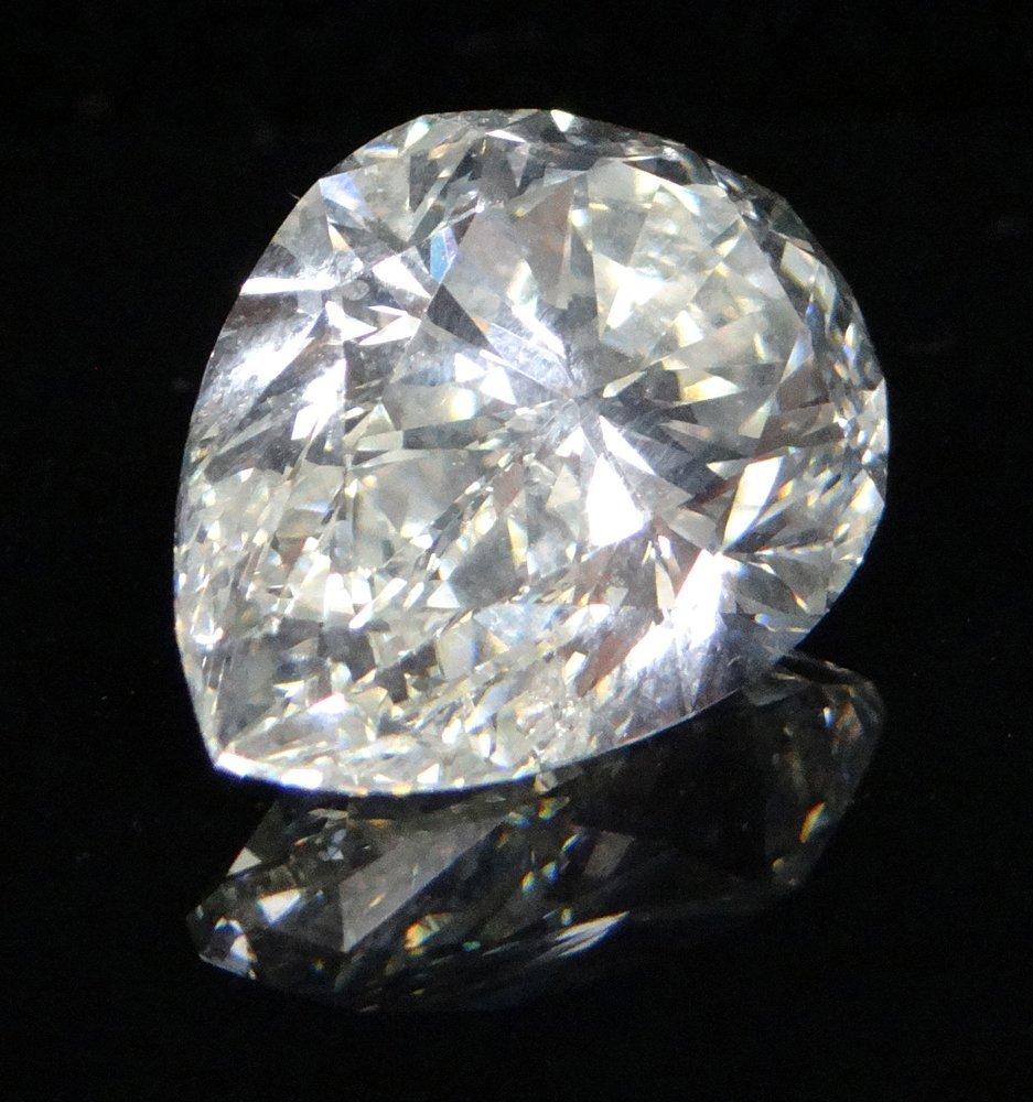 GIA Certified 11.83 Carat Pear Brilliant Cut Diamond of