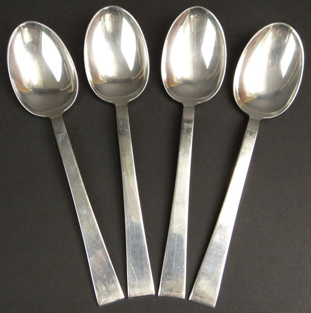 Four (4) International Sterling Tablespoon/Serving