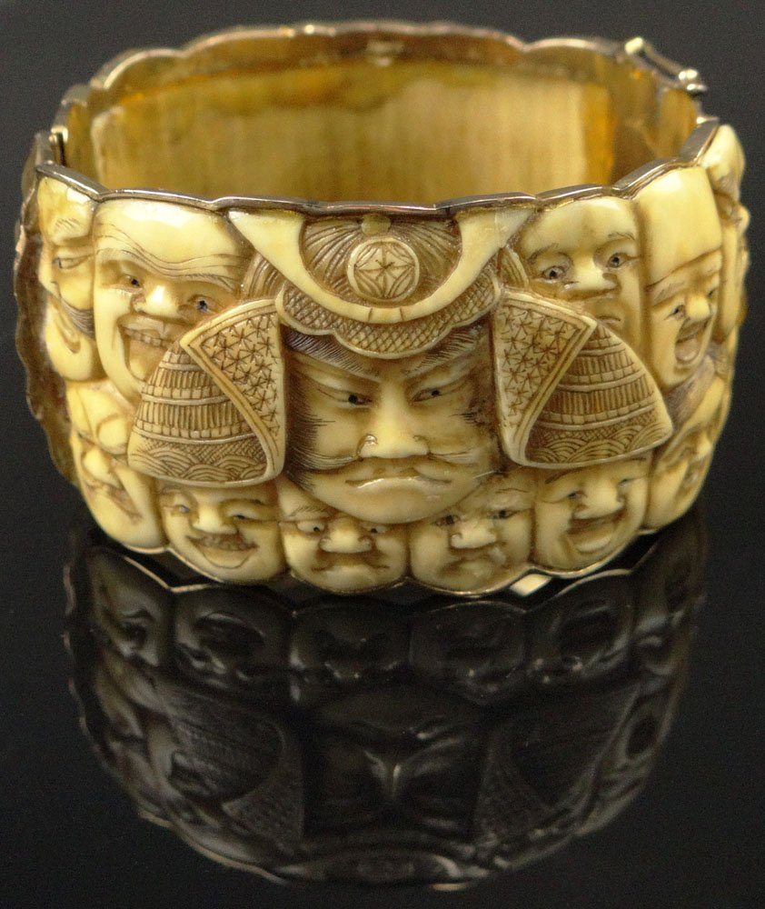 Mid 20th Century Japanese 14 Karat Yellow Gold and