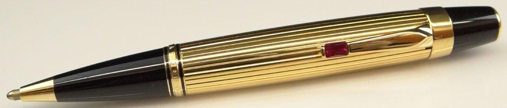 """French Montblanc """"Boheme"""" Gilt Metal Ballpoint Pen with"""