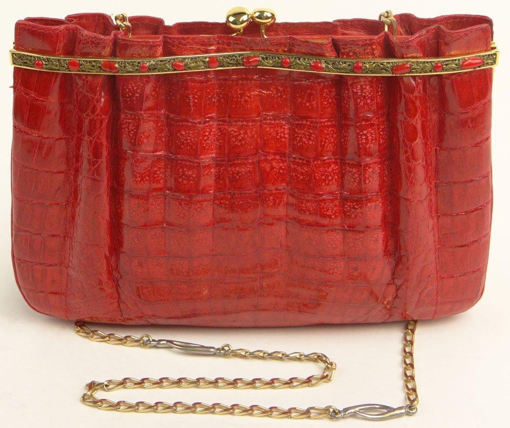 "Lady's Vintage Italian Bijoux Medici ""Coral Red"""