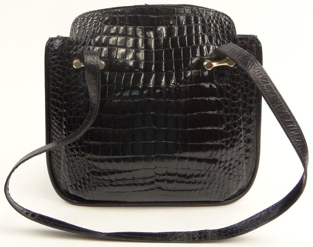 Lady's Vintage Italian Cesare Piccini Black Crocodile