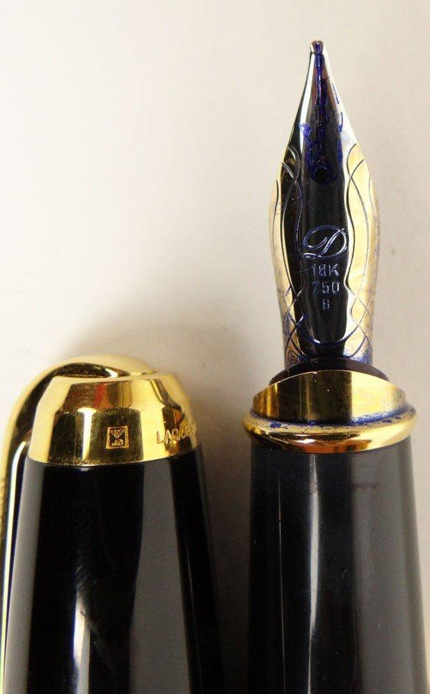 Vintage S.T. Dupont Paris Laque De Chine Fountain Pen. - 5
