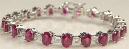 Lady's Approximately 12.15 Carat Oval Cut Burmese Ruby