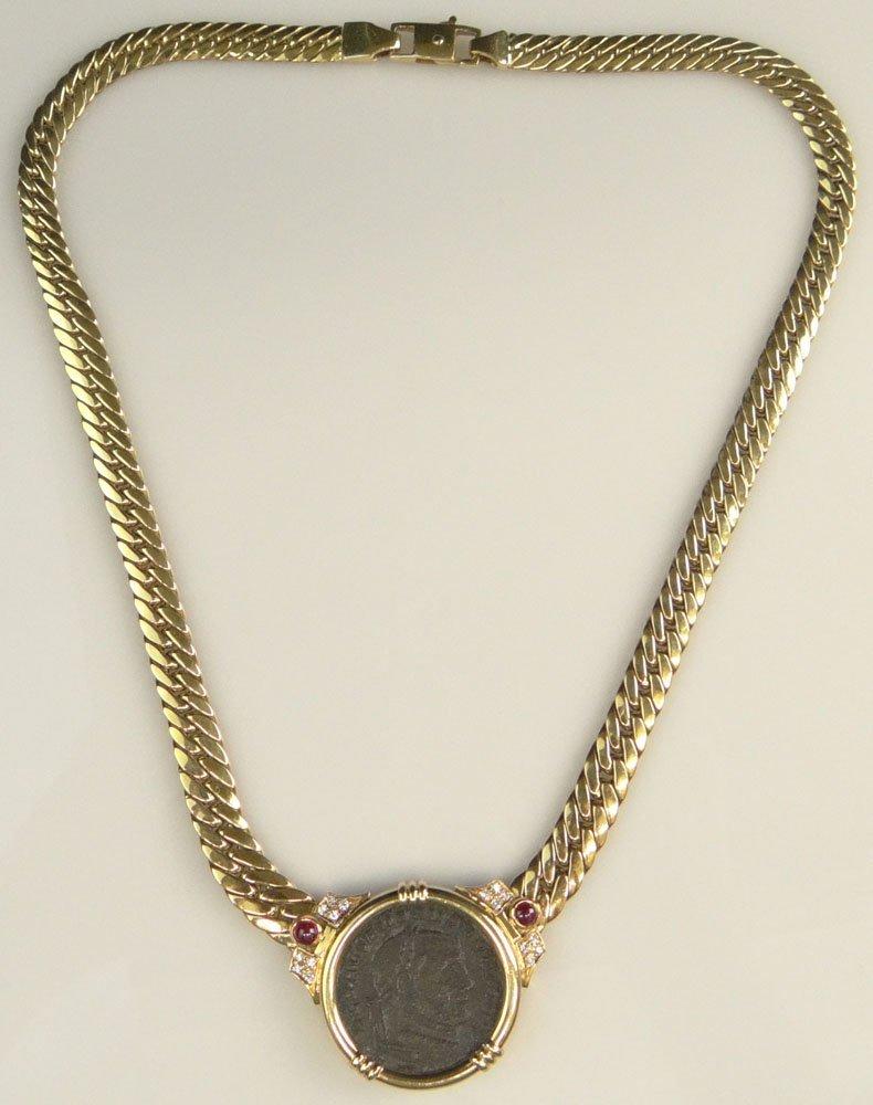 Lady's Vintage Bulgari style 18 Karat Yellow Gold, Ruby