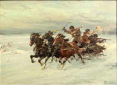 Wladyslaw Chmielinski Polish (1911-1979) Oil on Canvas