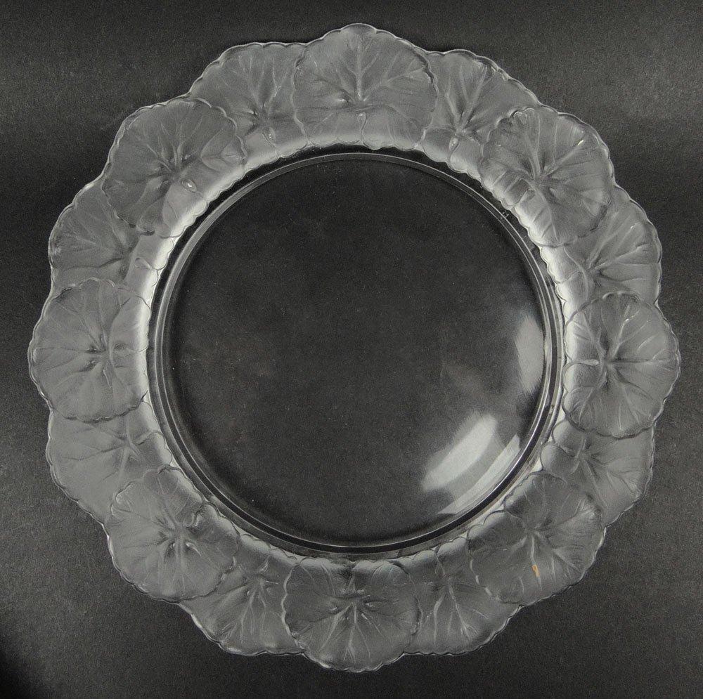 "Lalique Crystal ""Honfleur"" Salad Plate with Original"