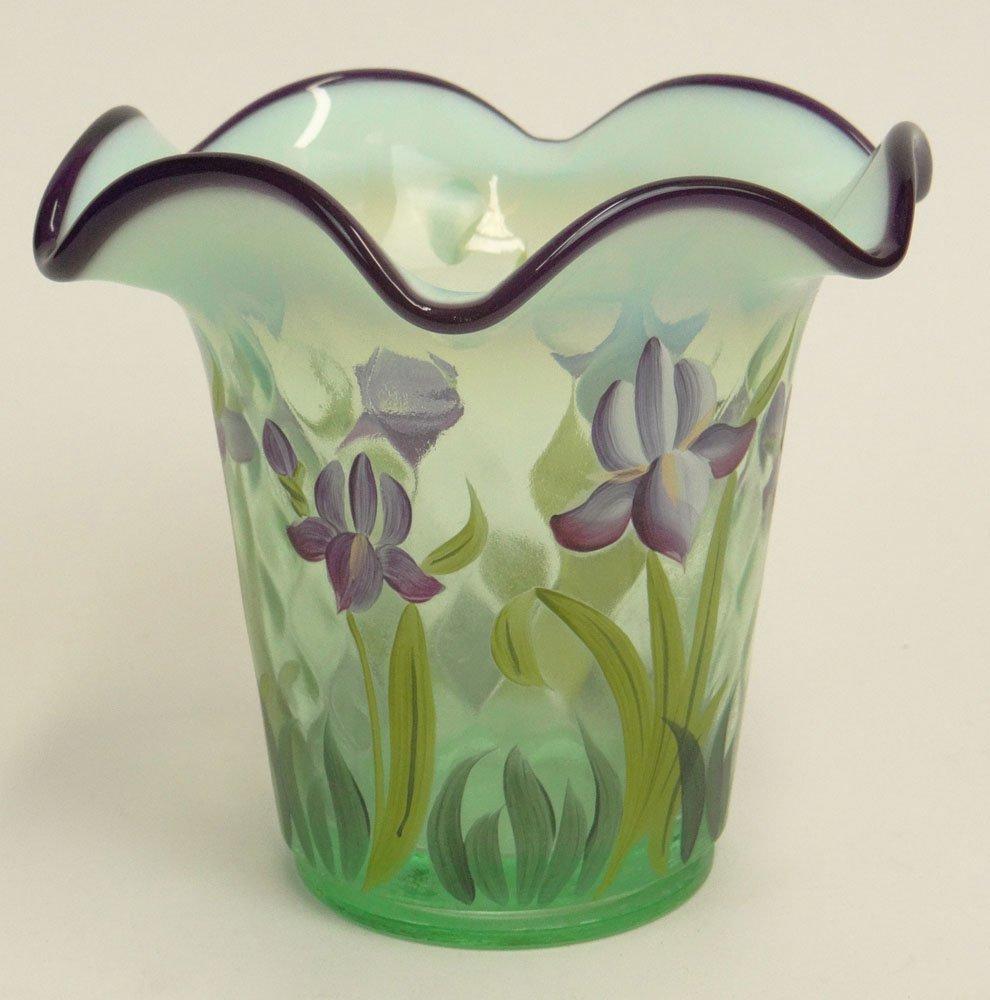 "2001 Fenton Designer Showcase Series Art Glass ""Iris"" - 2"