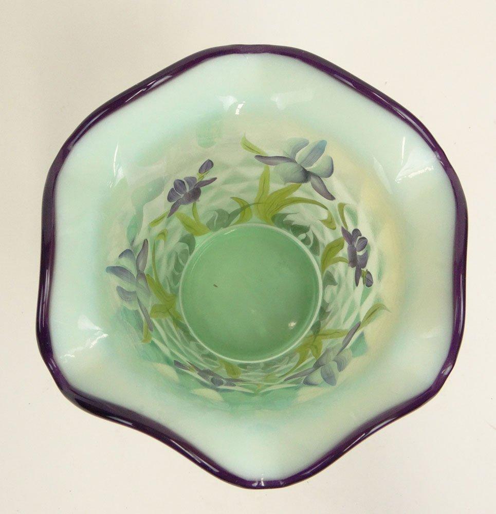 "2001 Fenton Designer Showcase Series Art Glass ""Iris"" - 3"