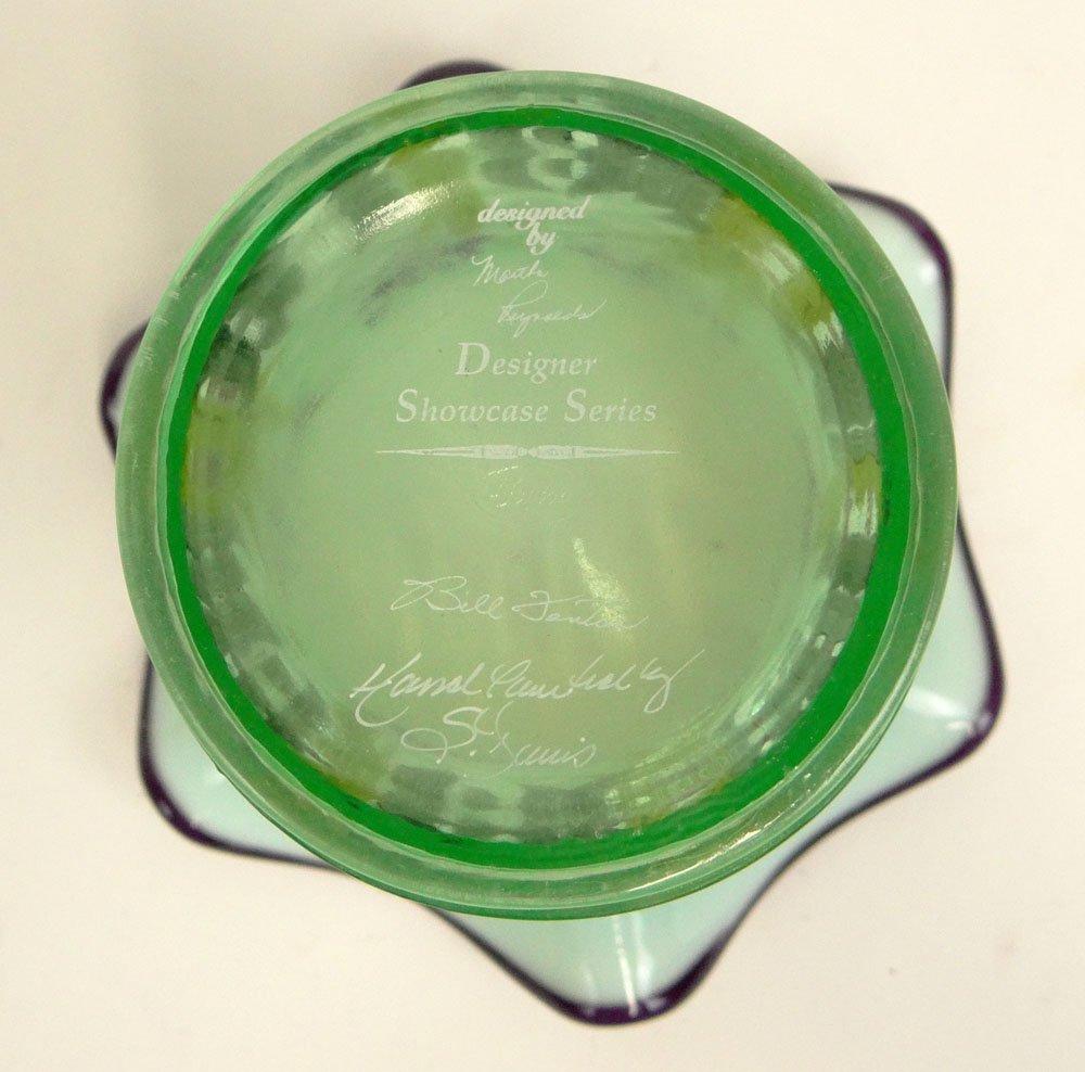 "2001 Fenton Designer Showcase Series Art Glass ""Iris"" - 4"