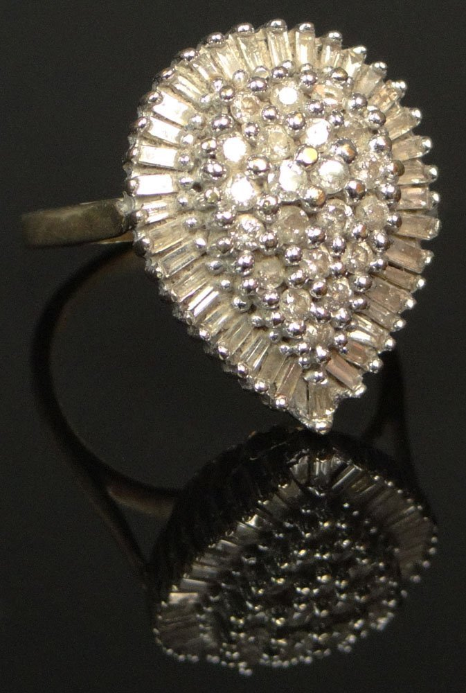 Vintage 58 Diamond and 10 Karat Yellow and White Gold