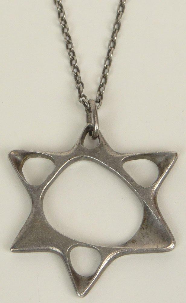 George Jensen Star of David Designed Pendent/Necklace
