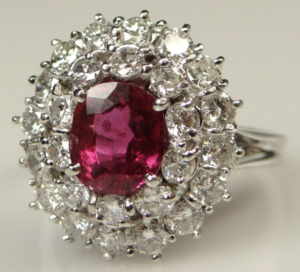 Lady's Antique style 1.41 Carat Oval Cut Ruby, 1.5