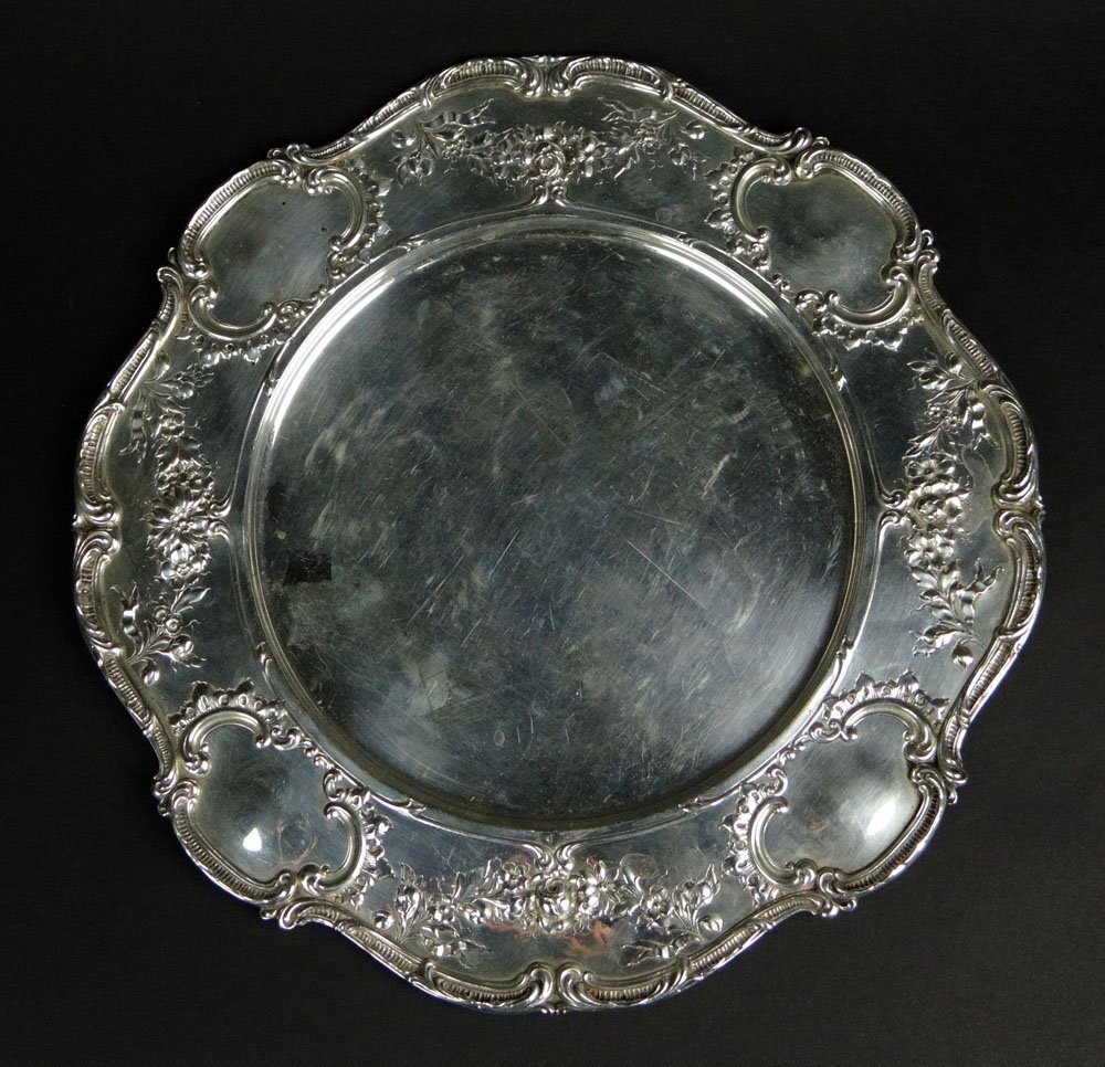 Early 20th Century Gorham Sterling Silver Service Plate
