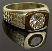 Mans Approx 185 Carat Round Brilliant Cut Diamond