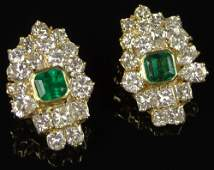 Extraordinary Pair of Ladys Large 12 Carat Round