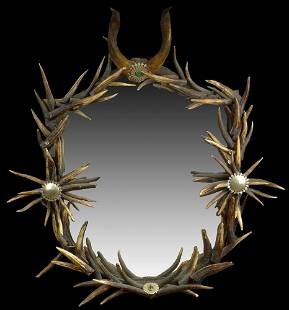 Anthony Redmile London 1970's. Large Antler Mirror